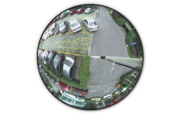 Fisheye Cameras Monitors Parking Lot