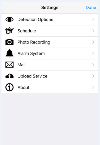 iSentry iOS App for Home Security