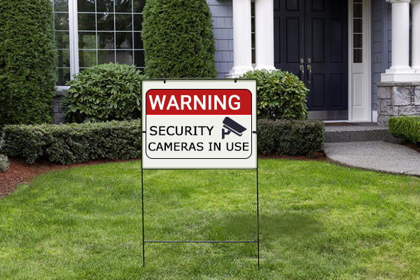 Security Cameras Signs
