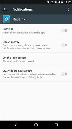 Android Reolink Notification