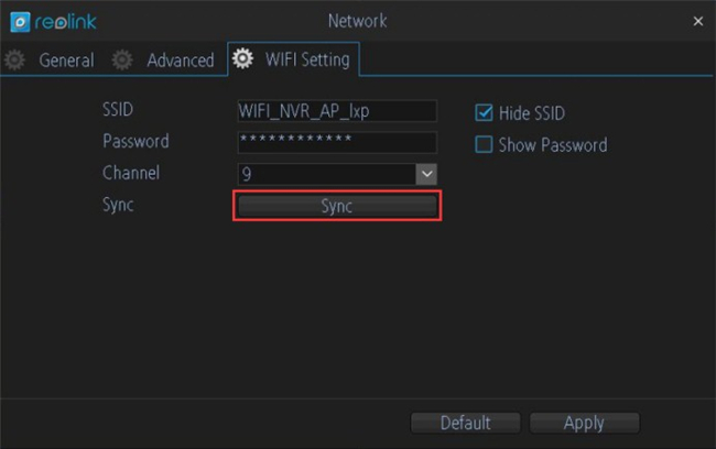 Sync SSID and Password