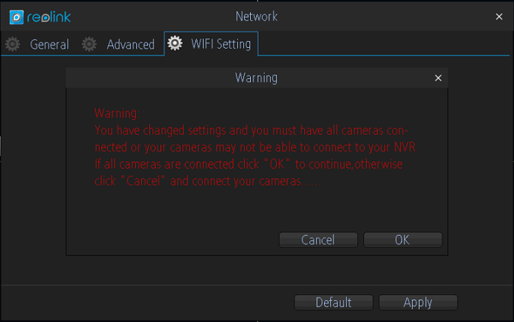 Wi-Fi Warning