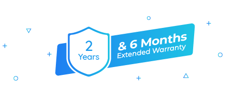 2-Year Warranty & Extra 6-Month Warranty