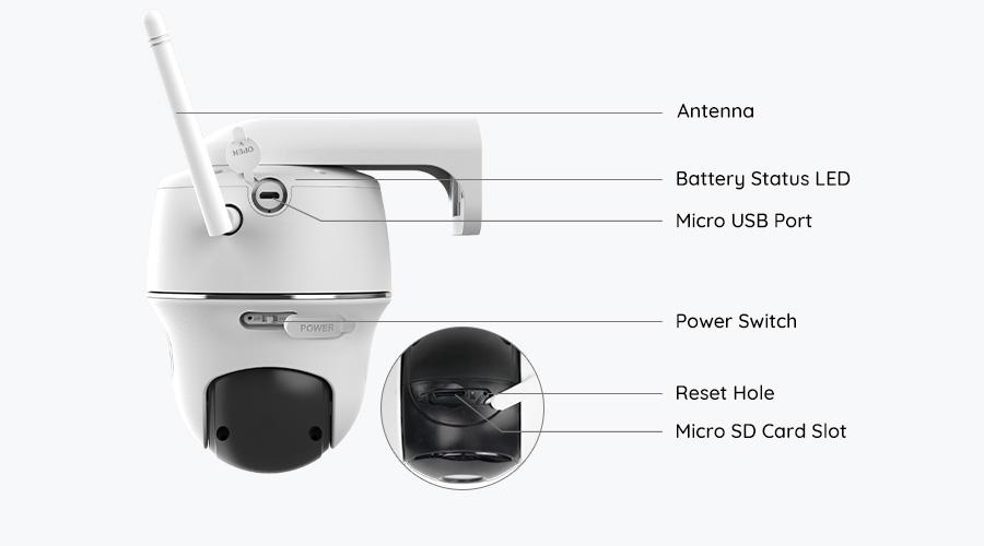 Outdoor Battery-Operated Wireless Surveillance Camera