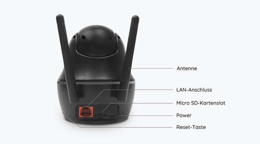Reolink C1 Pro PT WLAN IP Kamera - Rückseite