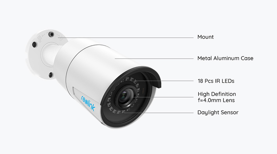 reolink rlc 410 5mp 4mp poe bullet security ip camera5mp 4mp poe outdoor security camera