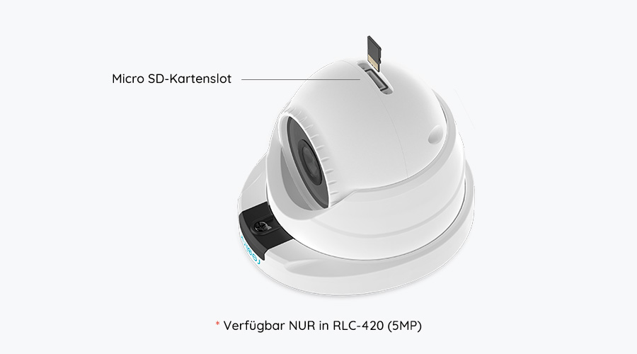 5MP Dome PoE IP Kamera mit Micro SD-Kartenslot
