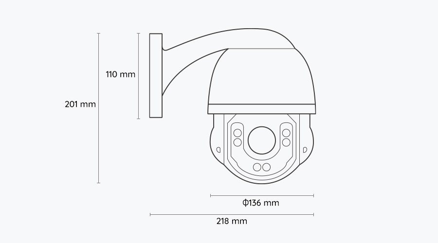 5MP High Speed Dome PTZ PoE Security IP Camera