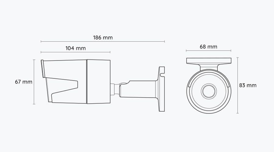5MP Dual_Band WiFi Bullet Security IP Camera