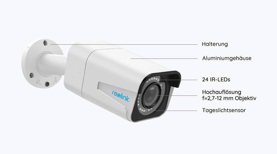 Reolink RLC-511 5MP PoE IP Kamera - Grafik