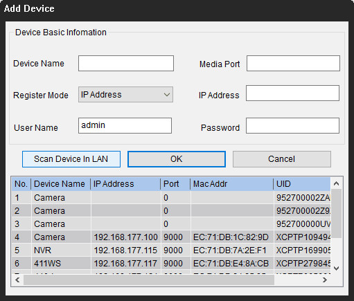 Camera IP Address