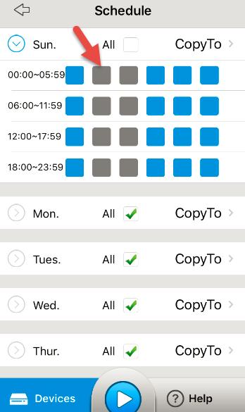 Set Up Schedule