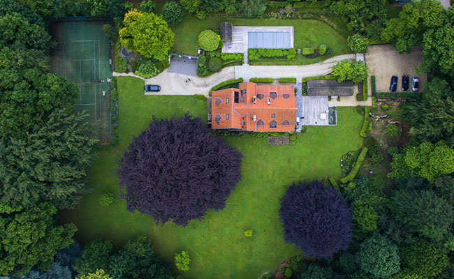 Luftbild Von Einer Videokamera Drohne