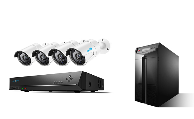 Security Camera with UPS Backup