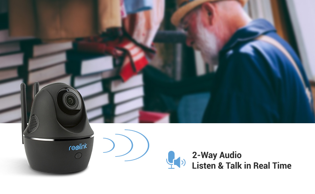 Two-Audio Security Camera for Empty Nester