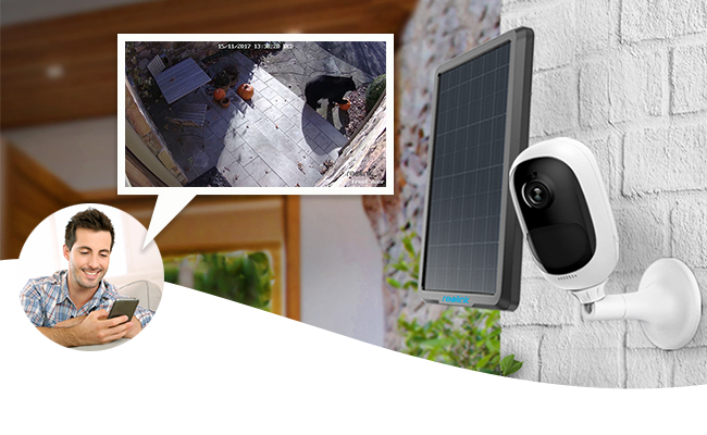 IP-Kamera mit Akku und Solarpanel