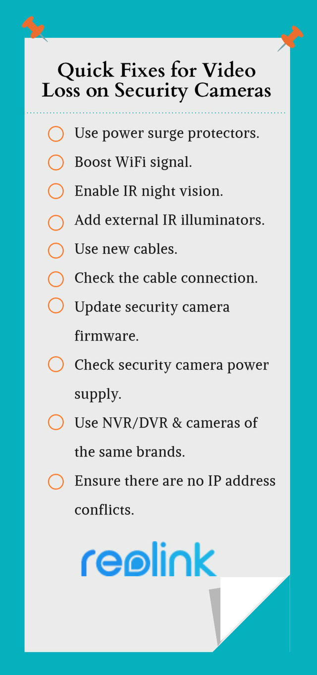 Quick Fixes for Video Loss on Security Cameras