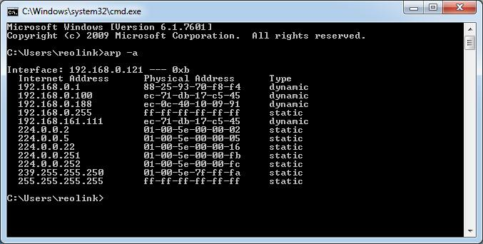 Command to Check IP Address